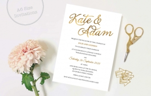 A6 size invitations