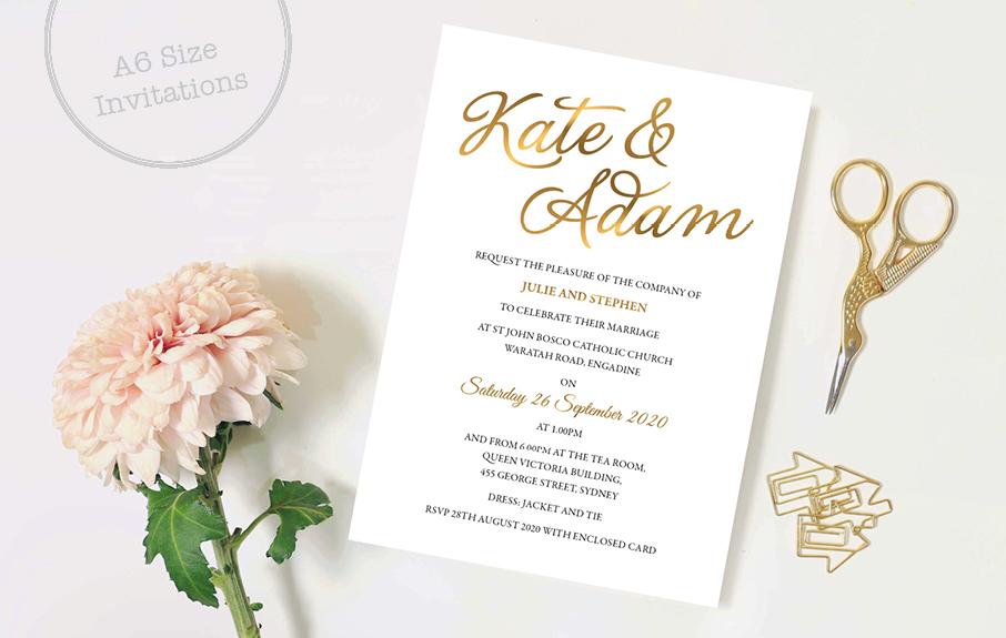 A6 Size Invitation