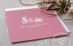 Bicycle Built for Two Pink
