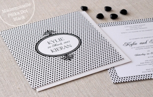 Mademoiselle Polka Dot Black