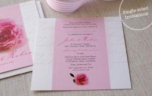 single sided invitations