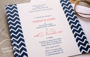 Single Sided Invitations