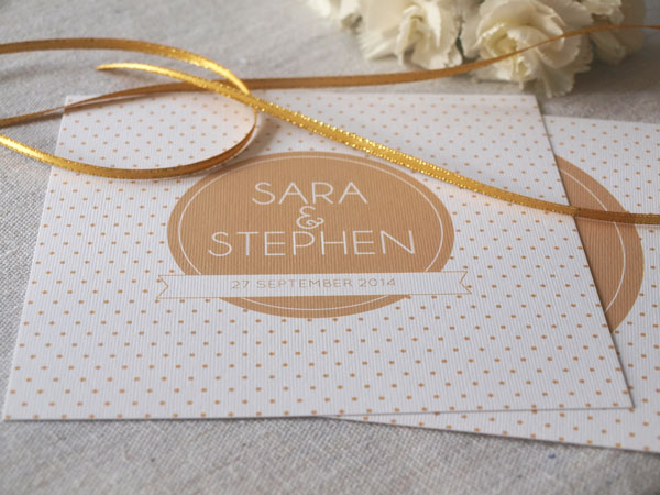 polkadot wedding invitations