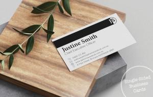 Single-sided Business Card