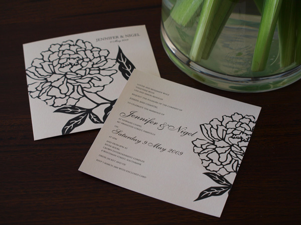botanica belle wedding invitation