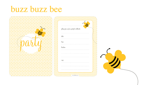 bee party invitations buzz buzz bee