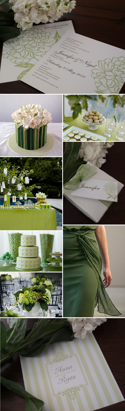 green wedding theme green wedding invitations