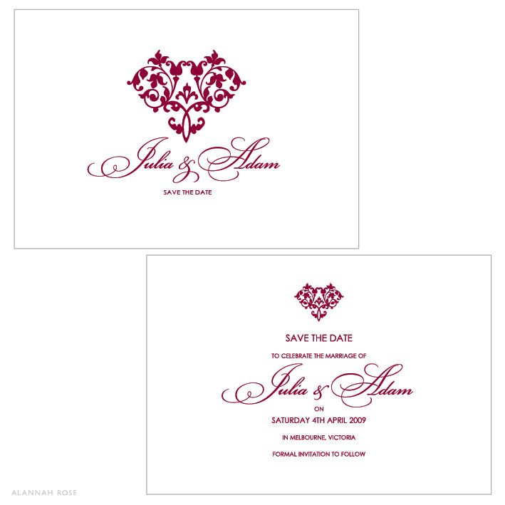 Hearts a Flutter Save the Date Card