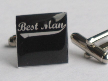 black and white best man cufflinks