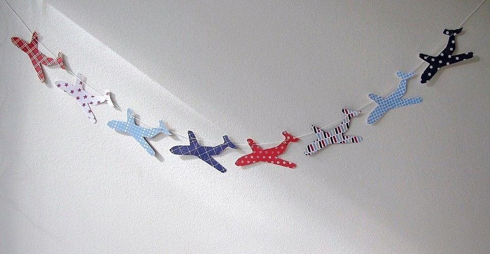 little plane paper garland