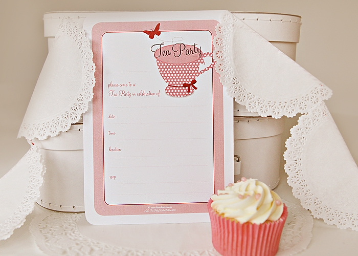 ava's tea party invitation by alannah rose