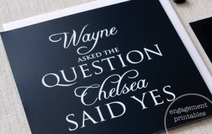 Engagement Printables