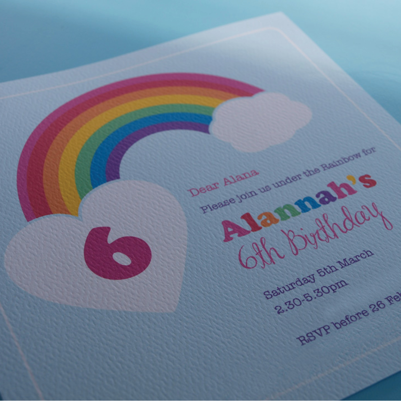 Wrap Me In Rainbows Printable Party Invitations