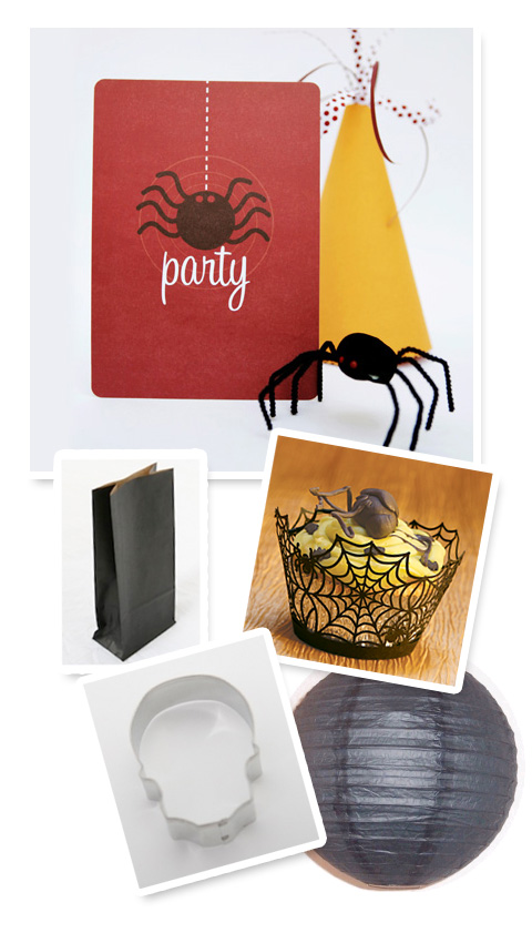 spooky spider party invitations