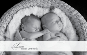 Twins Thank You Cards